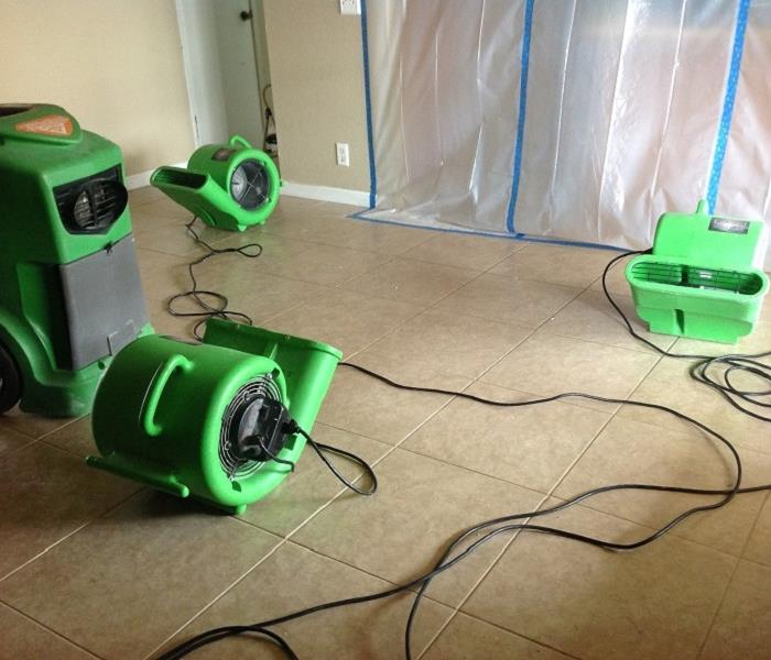SERVPRO of Murrieta equipment at work