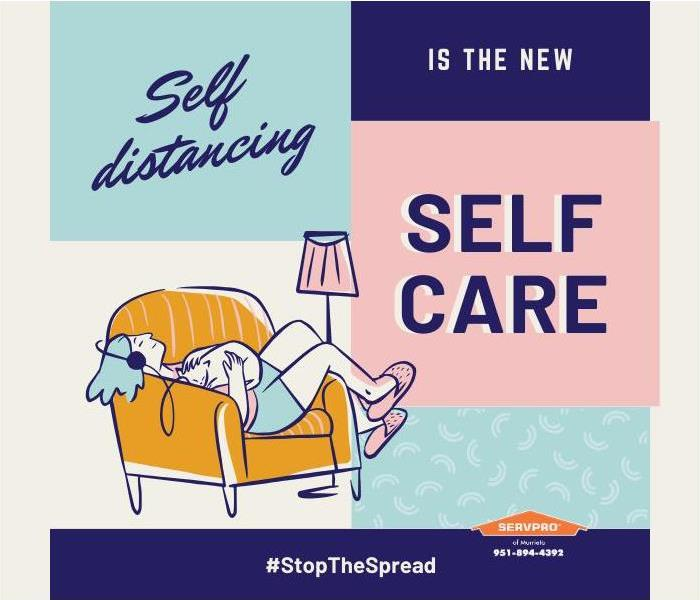 "Poster: ""Social distancing is the new self-care"""